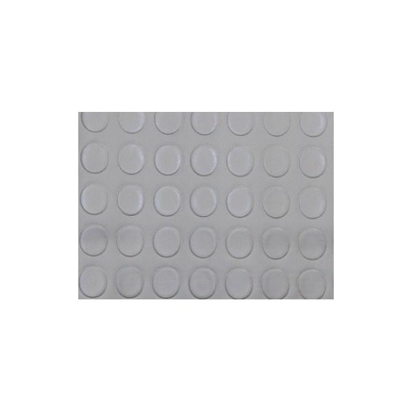 Suelo de pvc circulos color gris moquetas feriales for Moqueta ferial barata