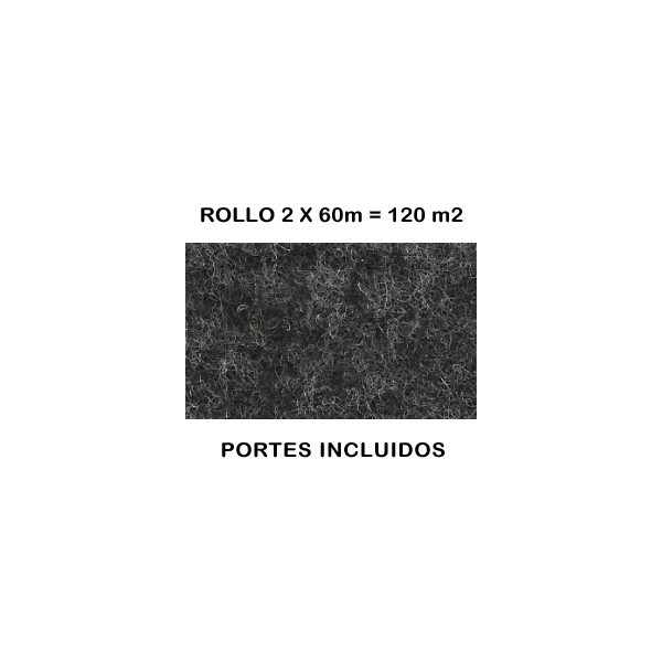 Rollo de moqueta ferial color gris antracita moquetas for Moqueta ferial barata